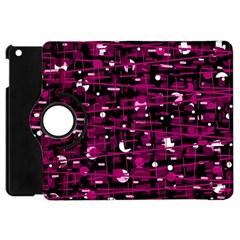 Magenta abstract art Apple iPad Mini Flip 360 Case
