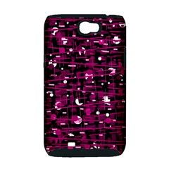 Magenta abstract art Samsung Galaxy Note 2 Hardshell Case (PC+Silicone)