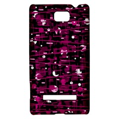 Magenta abstract art HTC 8S Hardshell Case