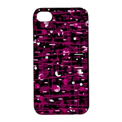 Magenta abstract art Apple iPhone 4/4S Hardshell Case with Stand