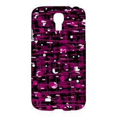 Magenta abstract art Samsung Galaxy S4 I9500/I9505 Hardshell Case