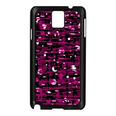 Magenta abstract art Samsung Galaxy Note 3 N9005 Case (Black)