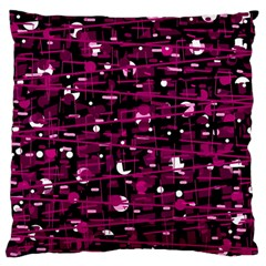 Magenta abstract art Large Flano Cushion Case (Two Sides)