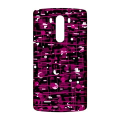 Magenta abstract art LG G3 Back Case
