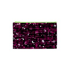 Magenta abstract art Cosmetic Bag (XS)