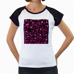 Magenta abstract art Women s Cap Sleeve T