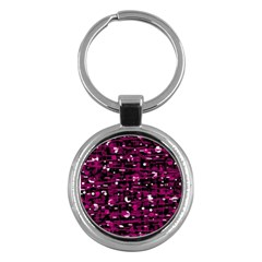 Magenta abstract art Key Chains (Round)