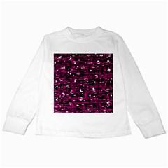 Magenta abstract art Kids Long Sleeve T-Shirts