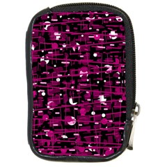 Magenta abstract art Compact Camera Cases