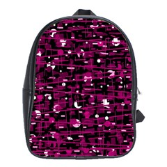 Magenta abstract art School Bags(Large)