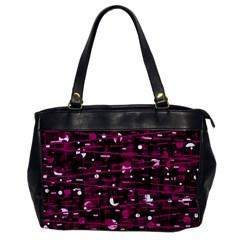 Magenta abstract art Office Handbags