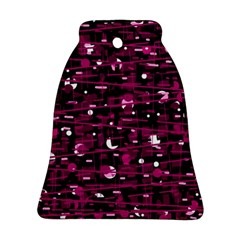Magenta abstract art Bell Ornament (2 Sides)