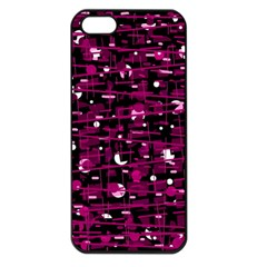 Magenta abstract art Apple iPhone 5 Seamless Case (Black)