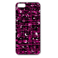 Magenta abstract art Apple Seamless iPhone 5 Case (Clear)