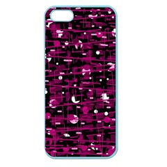 Magenta abstract art Apple Seamless iPhone 5 Case (Color)