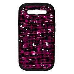 Magenta abstract art Samsung Galaxy S III Hardshell Case (PC+Silicone)