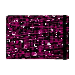 Magenta abstract art Apple iPad Mini Flip Case