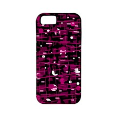 Magenta abstract art Apple iPhone 5 Classic Hardshell Case (PC+Silicone)