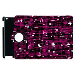 Magenta abstract art Apple iPad 3/4 Flip 360 Case