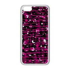 Magenta abstract art Apple iPhone 5C Seamless Case (White)