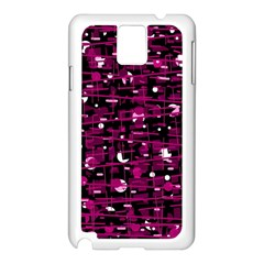 Magenta abstract art Samsung Galaxy Note 3 N9005 Case (White)