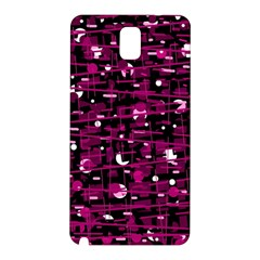 Magenta abstract art Samsung Galaxy Note 3 N9005 Hardshell Back Case
