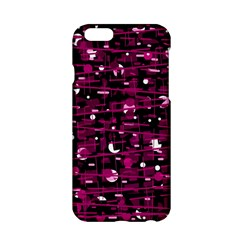 Magenta abstract art Apple iPhone 6/6S Hardshell Case