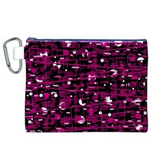 Magenta abstract art Canvas Cosmetic Bag (XL)
