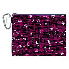 Magenta abstract art Canvas Cosmetic Bag (XXL)