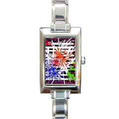 Colorful big bang Rectangle Italian Charm Watch