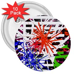 Colorful big bang 3  Buttons (10 pack)