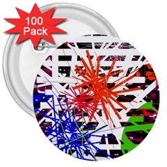 Colorful big bang 3  Buttons (100 pack)