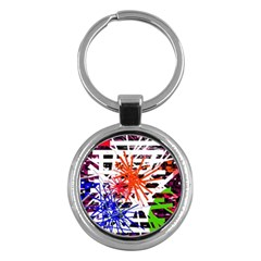 Colorful big bang Key Chains (Round)