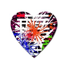 Colorful big bang Heart Magnet