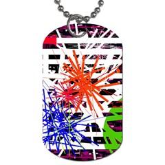 Colorful big bang Dog Tag (Two Sides)
