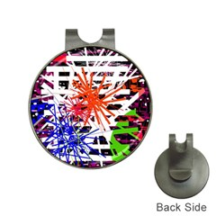 Colorful big bang Hat Clips with Golf Markers