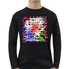 Colorful big bang Long Sleeve Dark T-Shirts