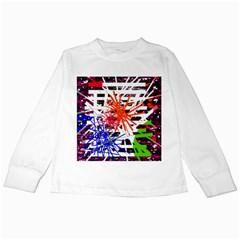 Colorful big bang Kids Long Sleeve T-Shirts