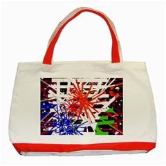 Colorful big bang Classic Tote Bag (Red)
