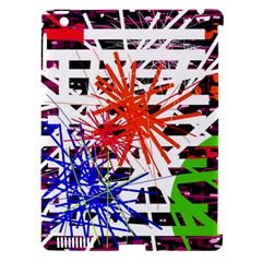 Colorful big bang Apple iPad 3/4 Hardshell Case (Compatible with Smart Cover)