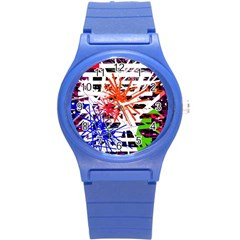 Colorful big bang Round Plastic Sport Watch (S)