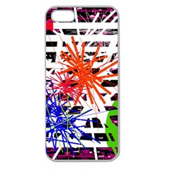 Colorful big bang Apple Seamless iPhone 5 Case (Clear)