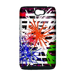 Colorful big bang Samsung Galaxy Note 2 Hardshell Case (PC+Silicone)