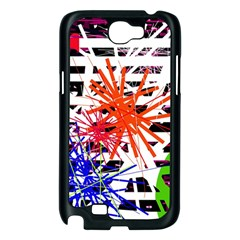 Colorful big bang Samsung Galaxy Note 2 Case (Black)