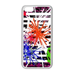 Colorful big bang Apple iPhone 5C Seamless Case (White)