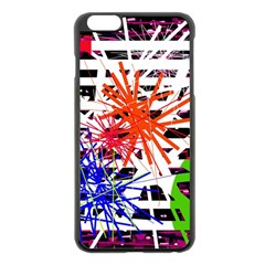 Colorful big bang Apple iPhone 6 Plus/6S Plus Black Enamel Case