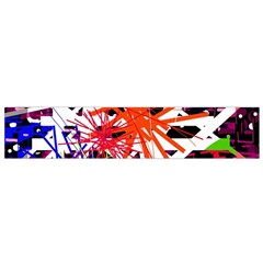 Colorful big bang Flano Scarf (Small)