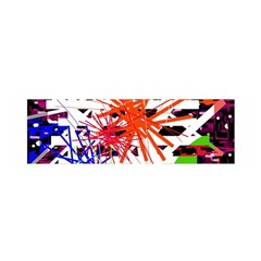 Colorful big bang Satin Scarf (Oblong)