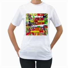 Colorful abstraction by Moma Women s T-Shirt (White) (Two Sided)