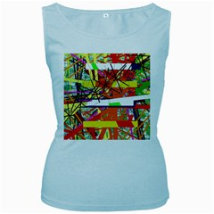 Colorful abstraction by Moma Women s Baby Blue Tank Top